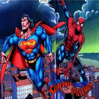 Art.No.1491- Фото декор за торта - Супермен и Спайдърмен  (Superman vs Spider-Man) от